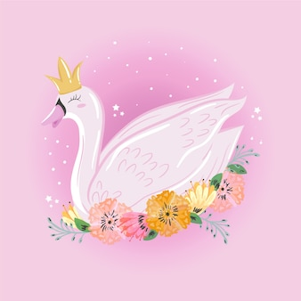 Swan prinses cartoon