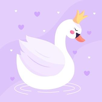 Swan prinses illustratie