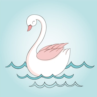 Swan prinses op water