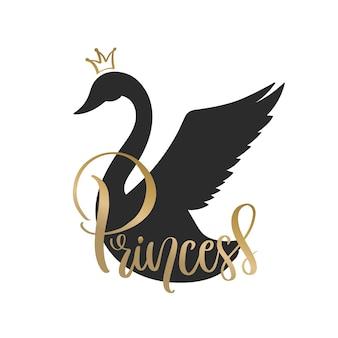 Swan silhouet ontwerp