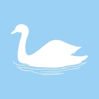 Swan silhouet thema