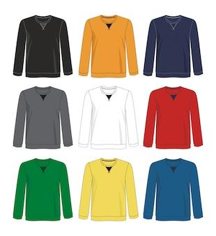 Sweatshirt sjabloon