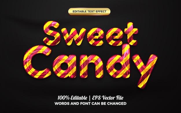 Sweet candy marmer 3d bewerkbaar teksteffect voor kinderen