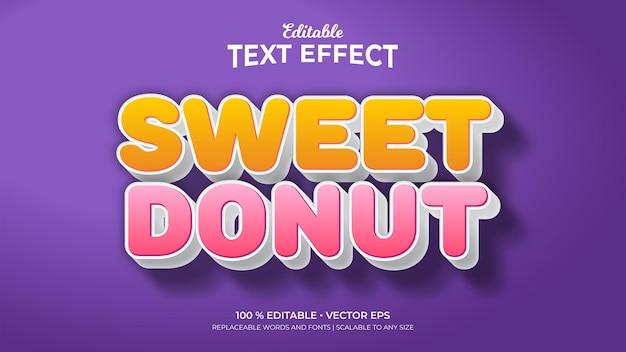 Sweet donut bewerkbare teksteffecten