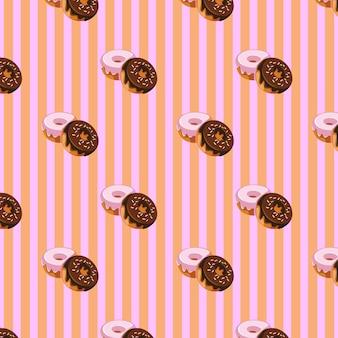 Sweet dougnhut patroonontwerp
