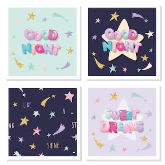 Sweet dreams schattig ontwerp voor pyjama's, nachtkleding, t-shirts.