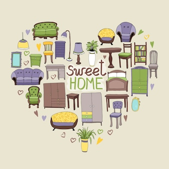 Sweet home illustratie