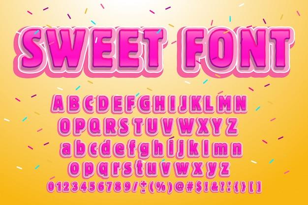 Sweet lettertype. roze letters. lollys belettering. snoep alfabet.