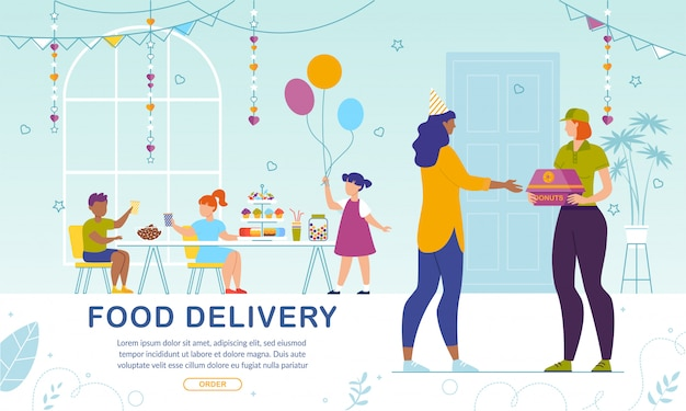 Sweet pastry delivery aan kids party online service