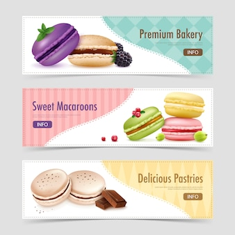 Sweet ratafee pastry banners