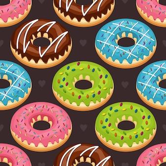 Sweet snack seamless pattern donut donut wallpaper
