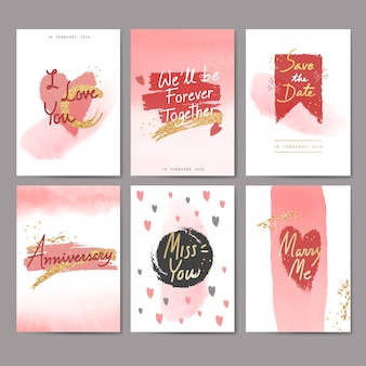 Sweet valentijn kaart ontwerp