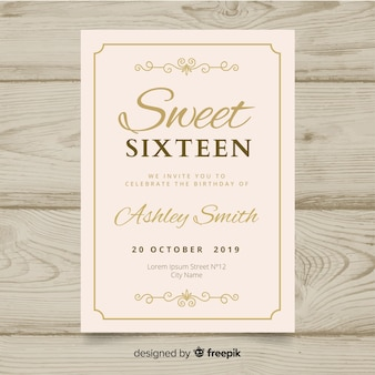 Sweet zestien verjaardagsfeestje uitnodiging