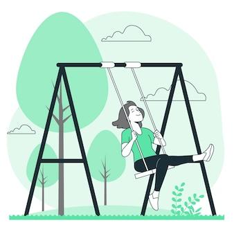 Swing concept illustratie