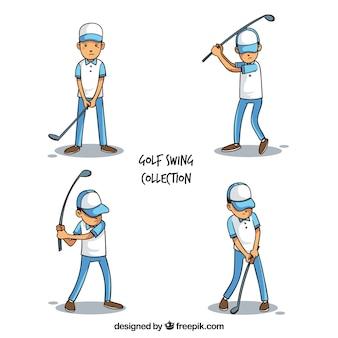 Swing golfcollectie met spelers