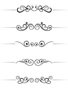 Swirl elementen