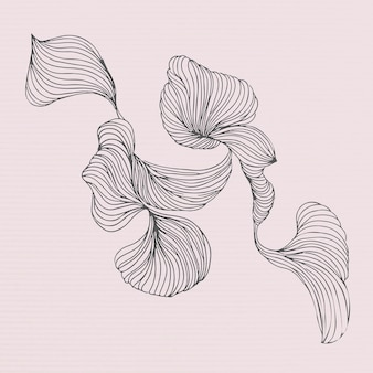 Swirly bloemenframe sociale advertenties sjabloon