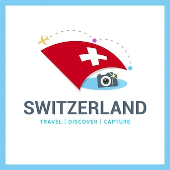 Switzerland travel logo