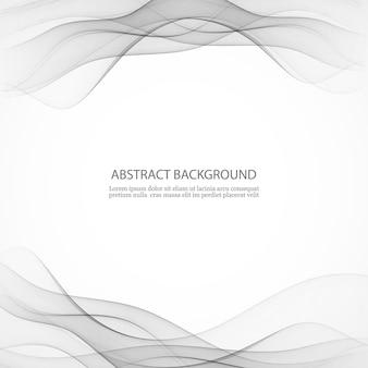 Swoosh golflijn certificaat abstracte achtergrond gladde lucht rook grens kaart. illustratie