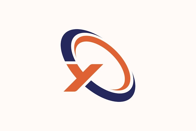 Swoosh met y-logo. letter y met ringen design vector illustratie modern icon.