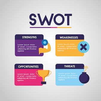Swot - infographic analyse Gratis Vector