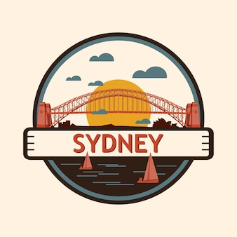 Sydney city badge, australië