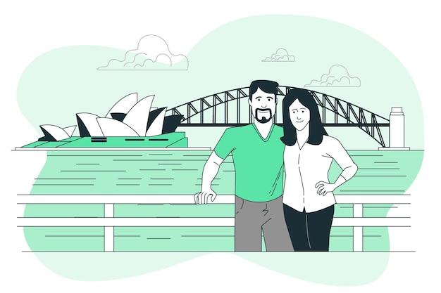 Sydney concept illustratie