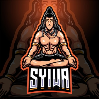 Syiwa esport mascotte logo ontwerp