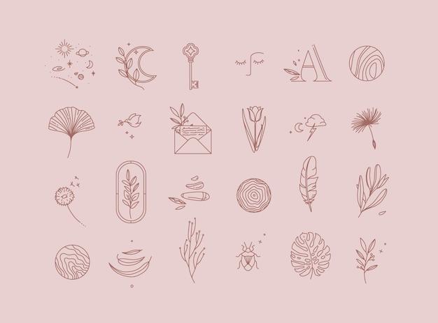 Symbolen in moderne minimalistische stijl