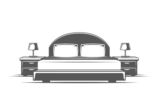 Symbolen voor logo's en emblemen van meubeldesign