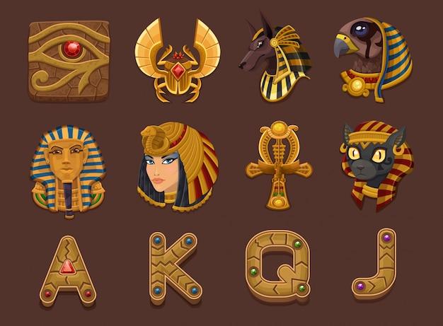 Symbolen voor slots game