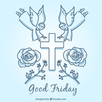 Symbolische elementen van goede vrijdag achtergrond