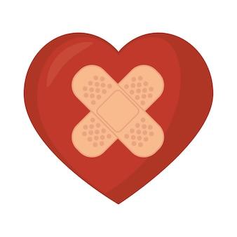 Symbool medisch hartpleister