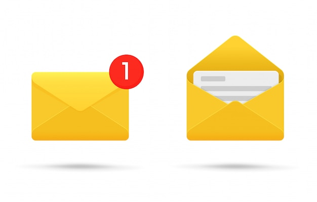 Symbool- of sms-melding op elektronische apparaten.