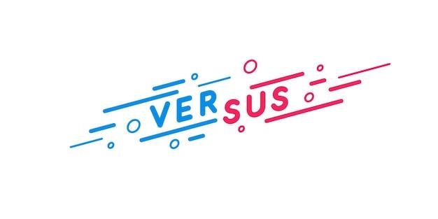 Symbool van confrontatie-embleem en het schrijven versus