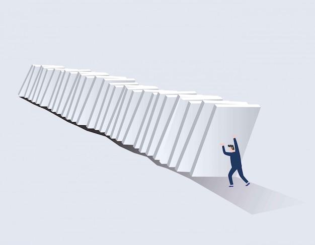 Symbool van crisis, risico, management, leiderschap en vastberadenheid.