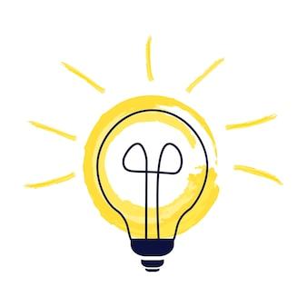 Symbool van energie, oplossingen, ideeën, denkconcepten. vectorillustratie op witte geïsoleerde achtergrond. vlakke afbeelding.