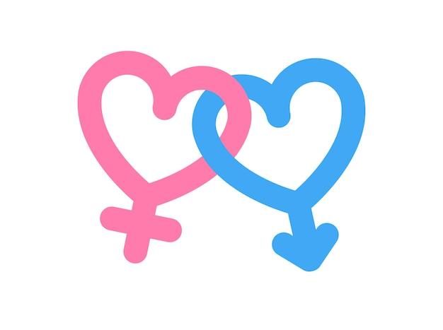 Symbool van mars en venus mannelijk en vrouwelijk symboolpictogram