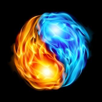 Symbool van yin en yang