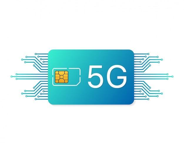 Symbool voor mobiele telecommunicatietechnologie.