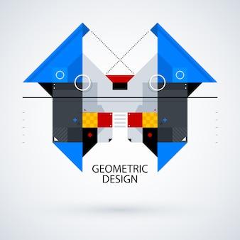 Symmetrische geometrische achtergrondontwerp