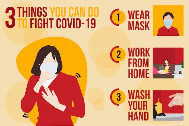 Symptomen en preventie van corona-virusziekte