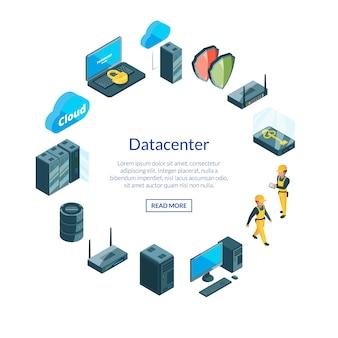 Systeem van datacenterpictogrammen i