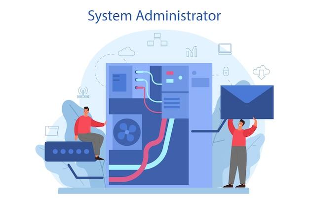 Systeembeheerder illustratie
