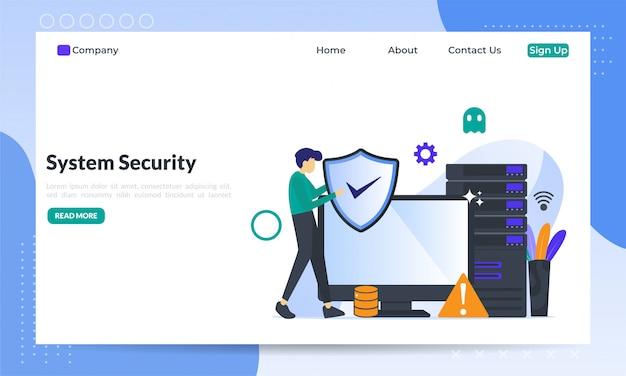 Systeembeveiliging platte concept
