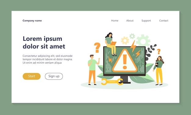 Systeemfout concept bestemmingspagina