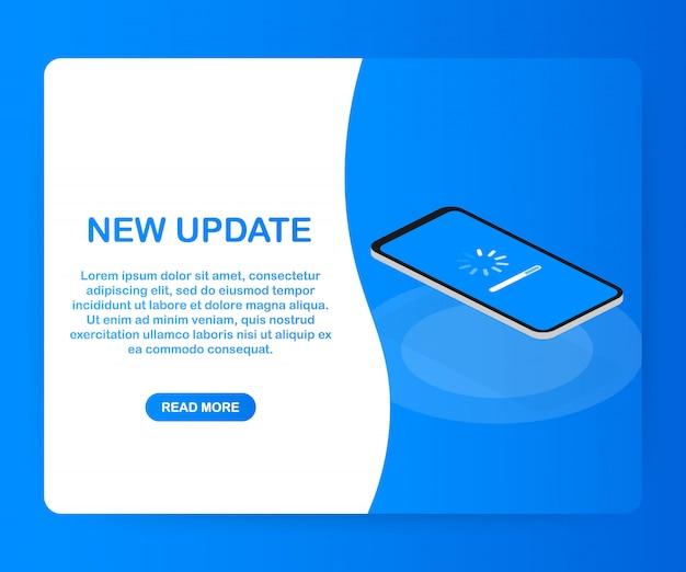 Systeemsoftware-update, gegevensupdate of synchroniseren met voortgangsbalk op het scherm.