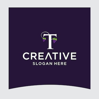 T-druif logo-ontwerp