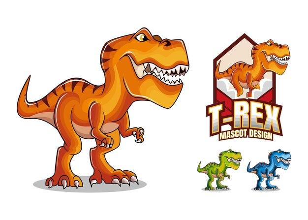 T rex mascotte ontwerp