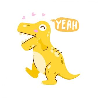 T-rex op wit
